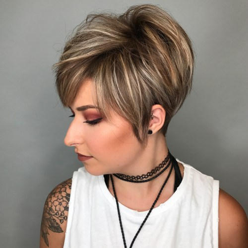 Messy Short Hairstyles For Women 13 - Haircuts + Hairstyles 2018