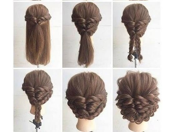 Easy Updos For Long Hair 6 Haircuts Hairstyles 2018