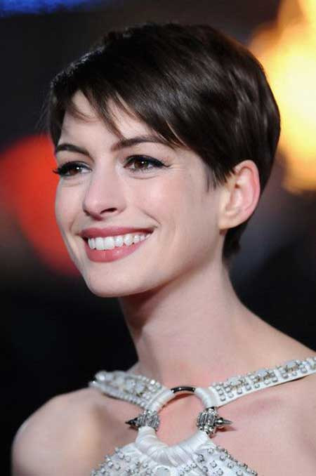 Anne Hathaway Celebrity Short Haircuts 2018