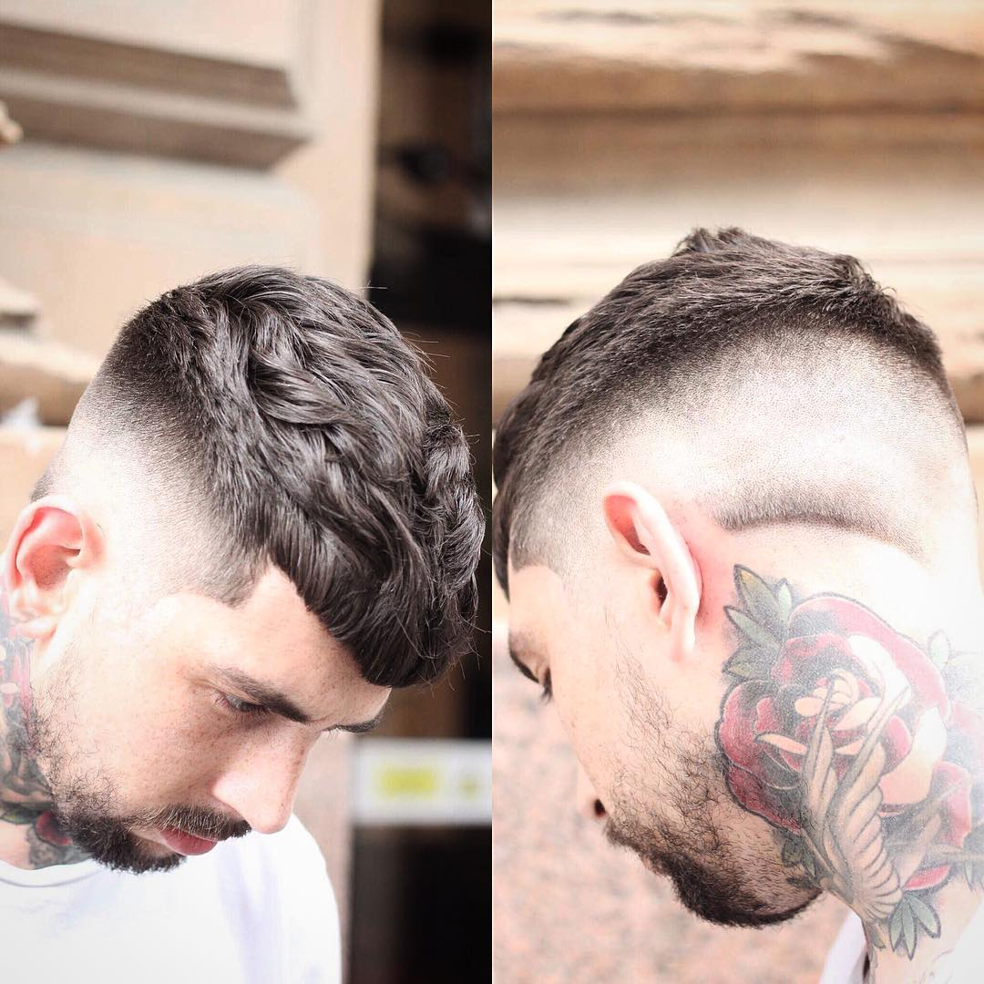 Beard Tattoo Short Haircut For Men Hairstyles Fashion And Clothing