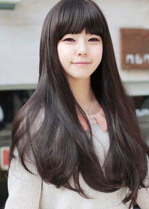 The 25+ Best Korean Hairstyles Women Ideas On Pinterest | Korean For Korean Girl Long Hairstyles
