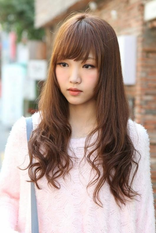 Cute Korean Hairstyle For Long Hair Hairstyles Weekly Within Cute Korean Hairstyles For Girls With Long Hair