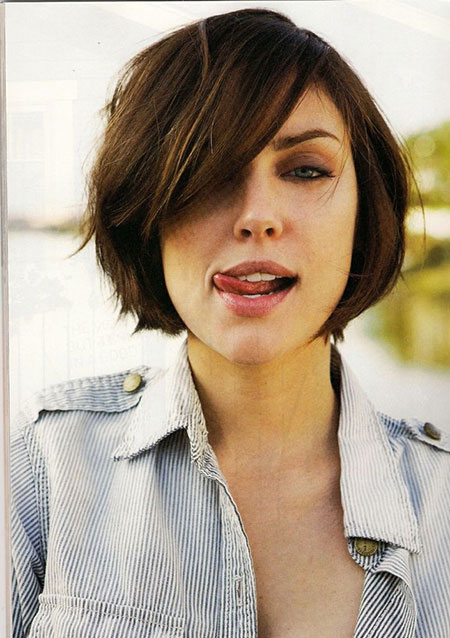Short Hairstyles For Round Faces 1