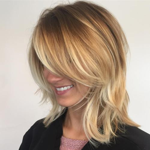 Medium Layered Haircuts 23