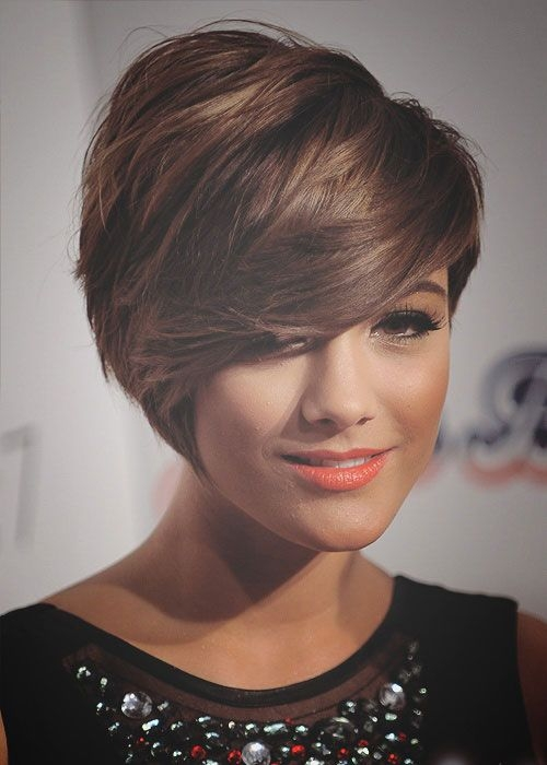 Short Haircuts For Round Face Shape 26