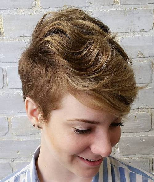 Short Side Haircut Female 20