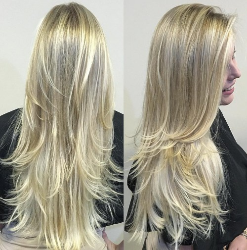 1 Long Layered Blonde Hairstyle
