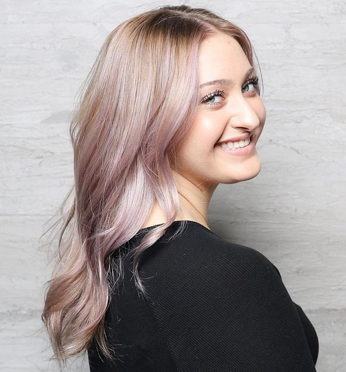 11 Ash Blonde And Pastel Purple Hairstyle