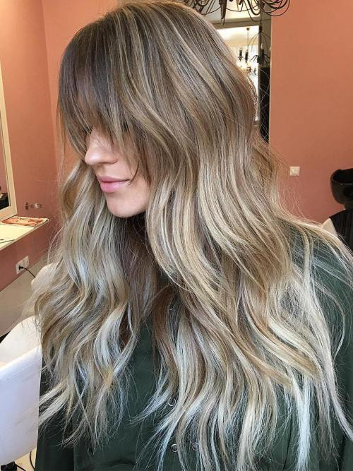 11 Long Balayage Ombre Hair With Bangs