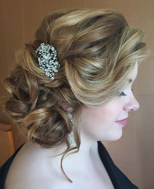 11 Side Updo For Brides