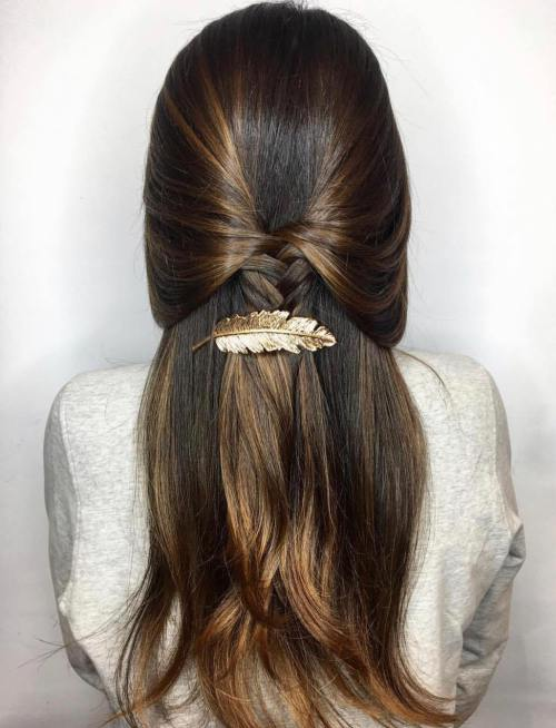 12 Braided Half Up Half Down Hairstyle
