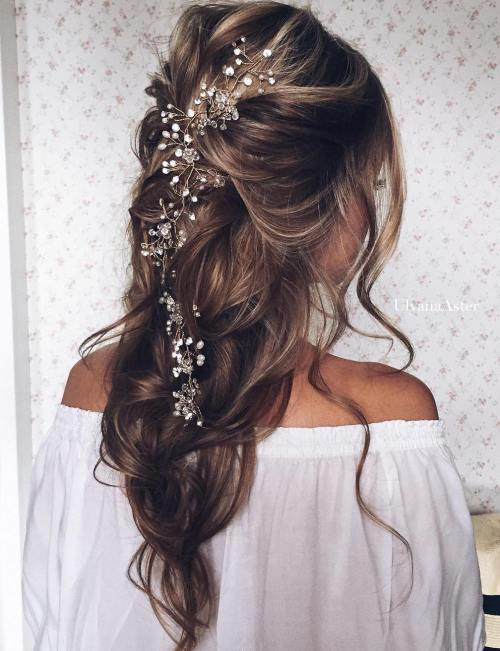13 Loose Wedding Half Updo