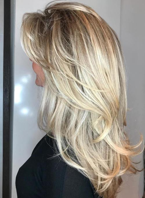 14 Long Layered Blonde Hairstyle