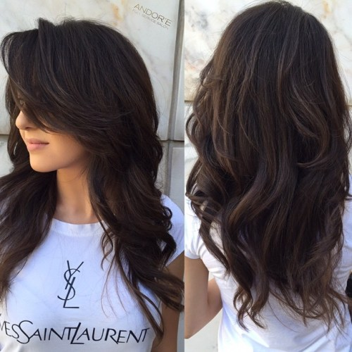 15 Layered Cut With Long Side Bangs
