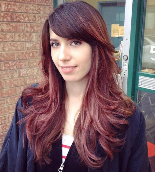 16 Long Layered Haircut With Bangs For Thick Hair
