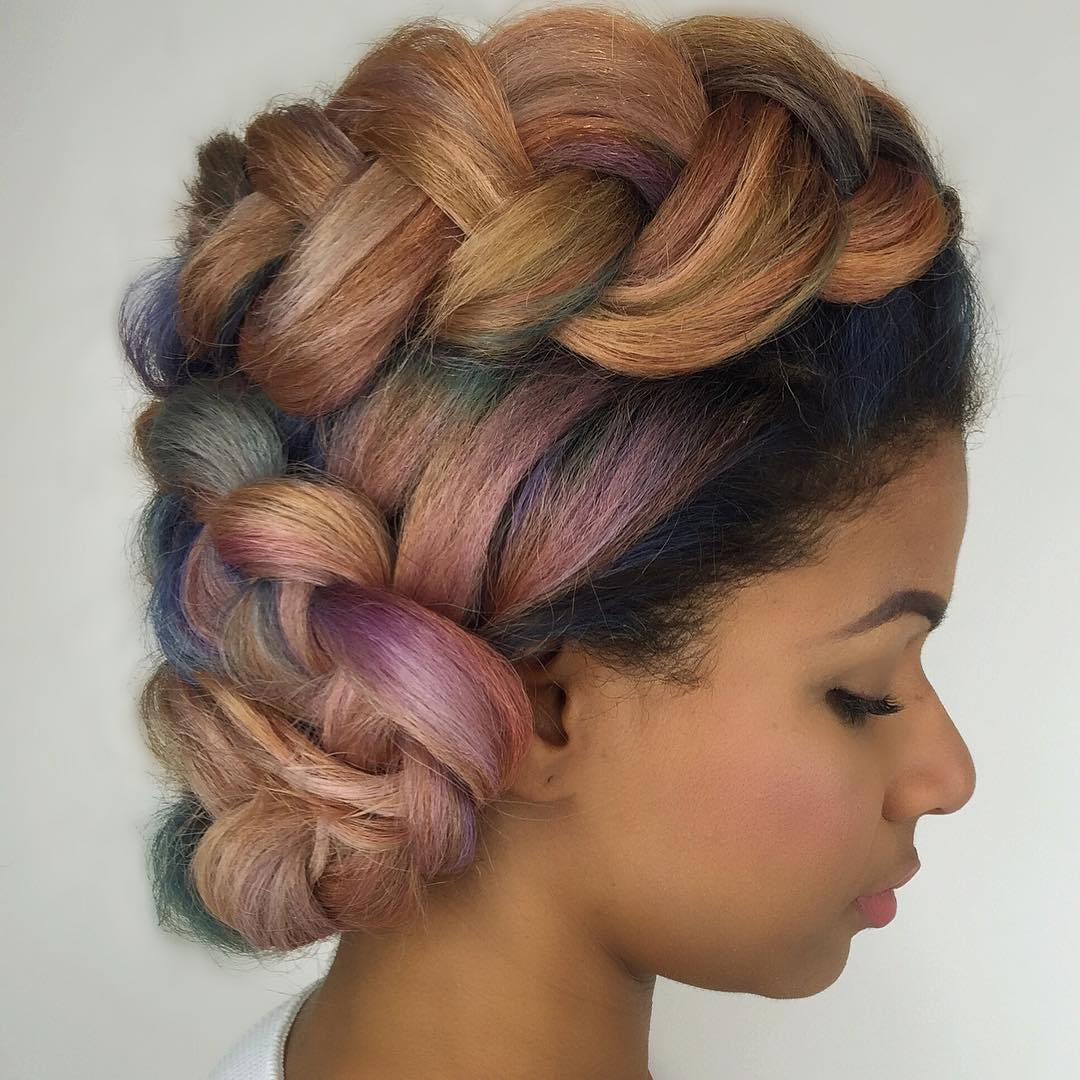 16 Pastel Sewin Hair In Updo