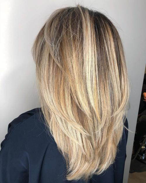 17 Long Straight Layered Hairstyle