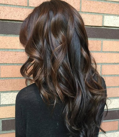 18 Long Curly Brunette Hairstyle