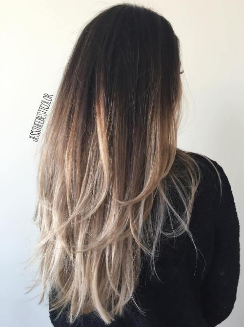 2 Black To Ash Blonde Ombre Hair