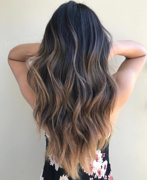 2 Chocolate Balayage For Black Hair - Hairstyles Fashion and Clothing