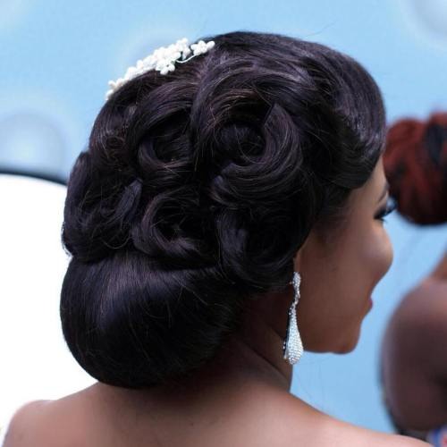 20 Black Formal Wedding Updo