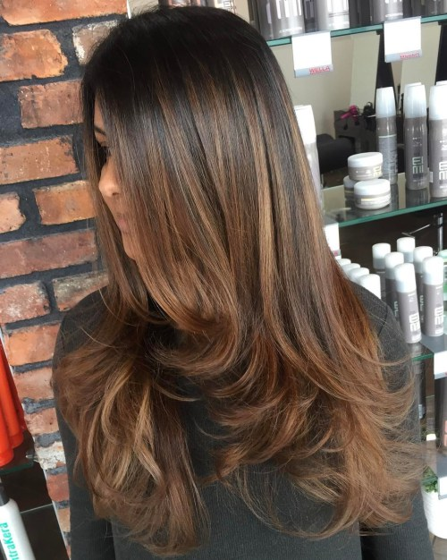 3 Long Brown Balayage Hair