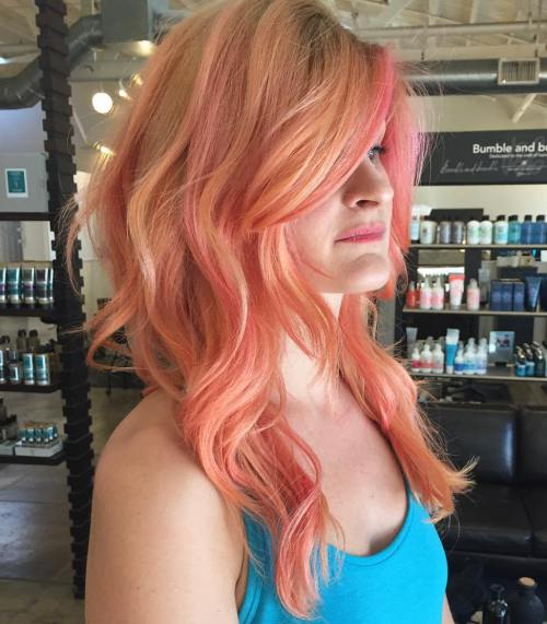 3 Strawberry Blonde Hair With Pink Highlights