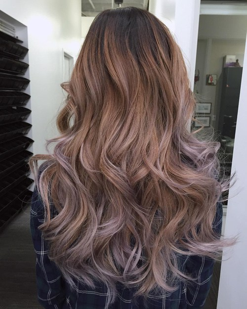 4 Layered Hairstyle With Caramel To Ash Brown Ombre