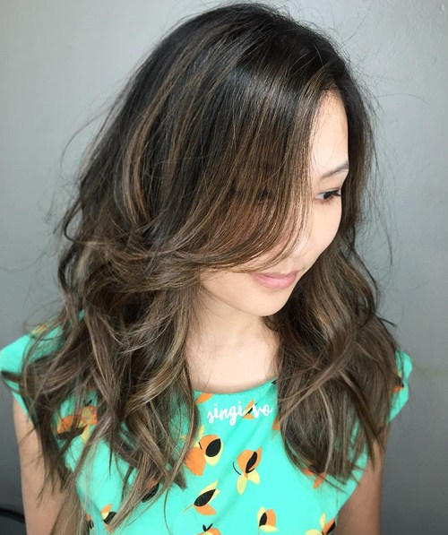 4 Long Layered Brunette Hairstyle