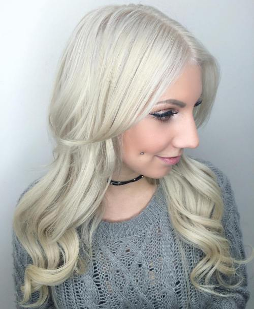 4 Long Silver Blonde Hairstyle