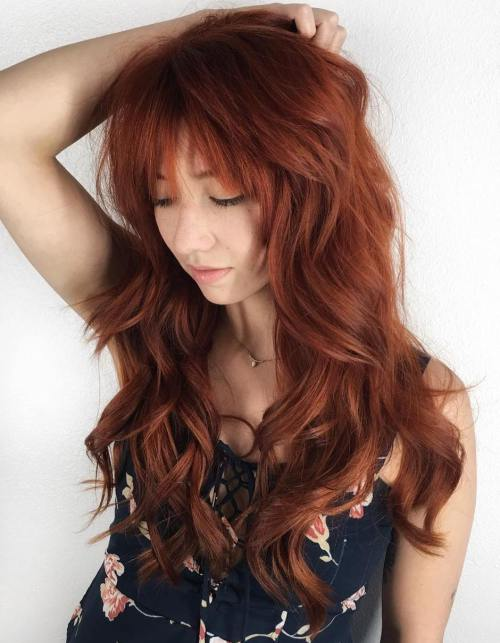 4 Messy Auburn Hairstyle For Long Hair
