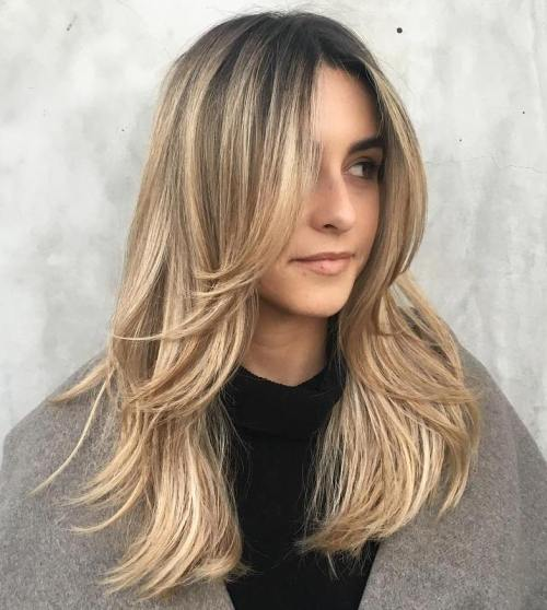 5 Long Layered Blonde Hairstyle