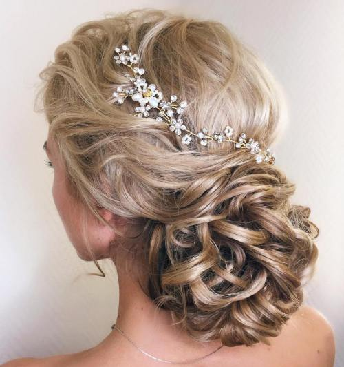 5 Wedding Low Loopy Bun For Long Hair