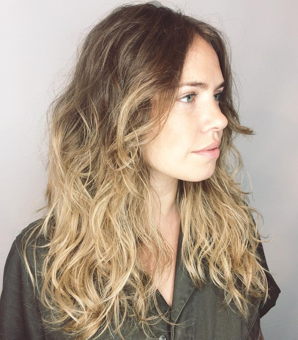 58 Scrunched Wavy Shaggy Hairstyle
