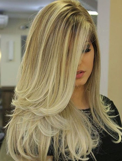 7 Long Blonde Ombre Blowout Hairstyle Hairstyles Fashion