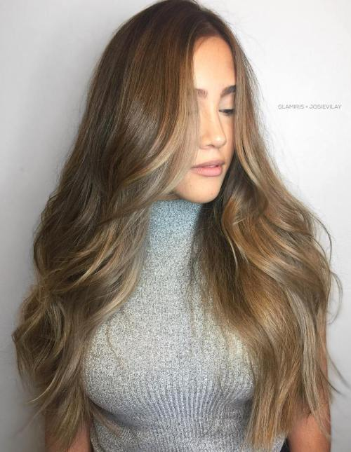 7 Long Brown Balayage Hair