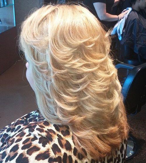 8 Blonde Layered Hairstyle With Flicks