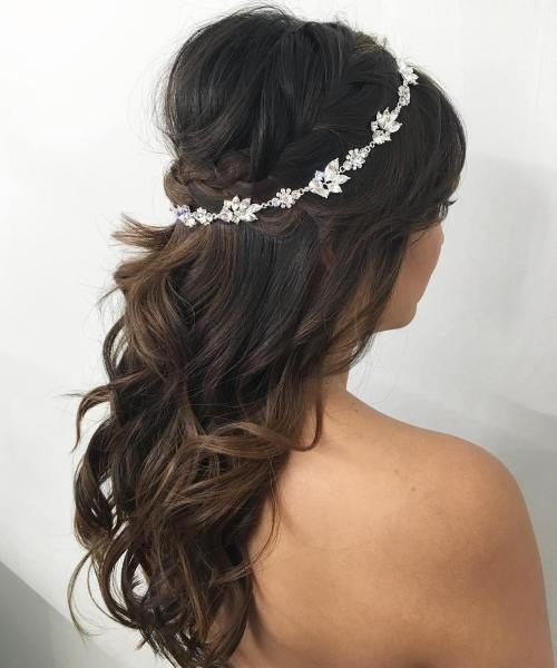 8 Bridal Curly Bouffant Half Updo