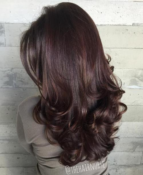 8 Long Layered Hairstyle With Curled Ends