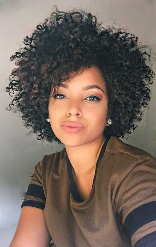 Black Short Curly Hairstyles 2018 29