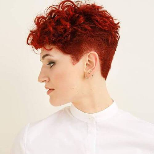 Curly Pixie Hair 22
