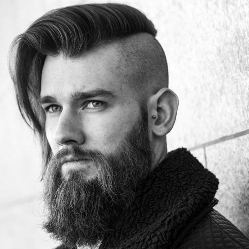 Beard Comb Over Shaved Sides