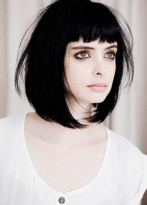 Female Short Blunt Haircuts With Bangs