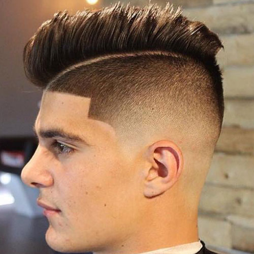 High Faded Undercut With Textured Comb Over