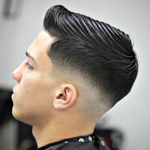 Low Bald Fade With Side Part