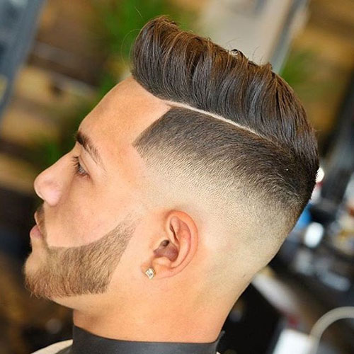 Mid Fade Part Combover