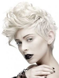 Punk Short Curly Hair For Girls
