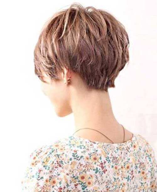 Short Haircuts With Layers Back