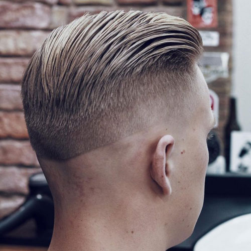 Slick Back Hair On Top Razor Fade