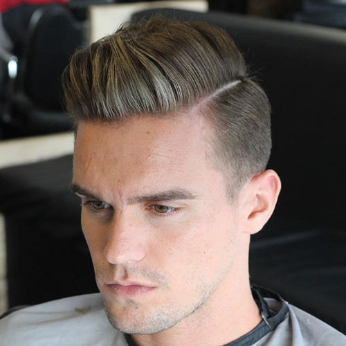 Tapered Sides With Parted Comb Over